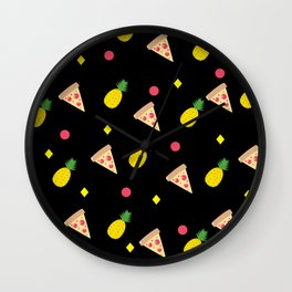 Pizza Pineapple Party Wall Clock