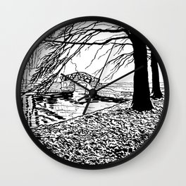 Et le jardin apparut  / And the garden appeared Wall Clock