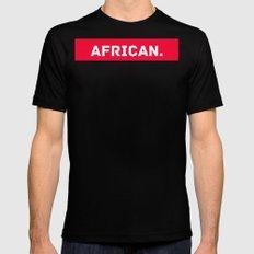AFRICAN Black MEDIUM Mens Fitted Tee