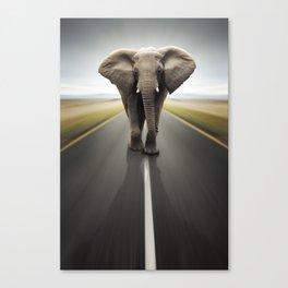 Elephant Trucker Canvas Print