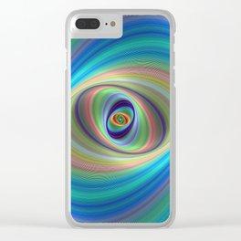 Hypnotic eye Clear iPhone Case