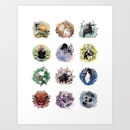 Zodiac Signs Art Print