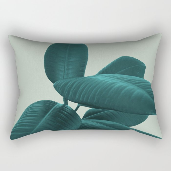 Ficus Elastica #8 #GreenLily #decor #art #society6 Rectangular Pillow