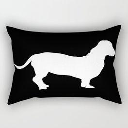 Dachshund on Black Rectangular Pillow