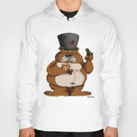 russian Hoodies featuring Russian Bear by Michelena