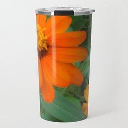 Orange Echinacea Sombrero Coneflowers Travel Mug