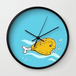 fish and chick or fish leg Wall Clock
