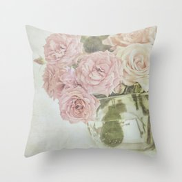 Between roses. Throw Pillow