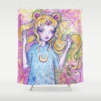 sailor moon Shower Curtains featuring Sailor Moon by Brettisagirl