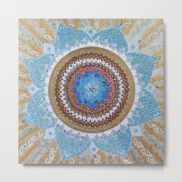 Let There Be Light Mandala Metal Print