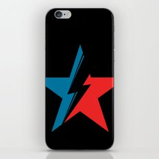 Bowie Star black iPhone & iPod Skin