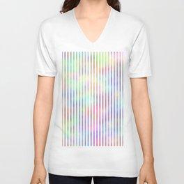 White Strips. Fashion Textures Unisex V-Neck