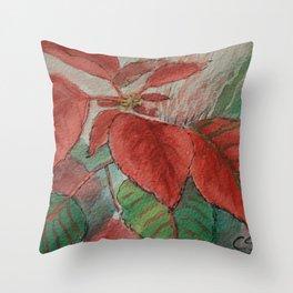 Poinsettia WC161122g Throw Pillow