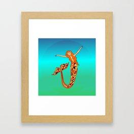 Koi Mermaid Framed Art Print