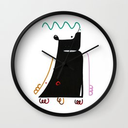 Primitive man. Wall Clock