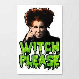 Witch Please, Love Winnie Canvas Print