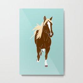 Quarter Horse Equestrian Illustrated Print Metal Print