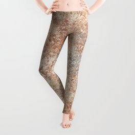 Cavern Clay SW 7701 and Abstract Distressed Chaotic Sponge Paint Pattern 2 Leggings