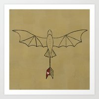 toothless Art Prints featuring Toothless by Jozi