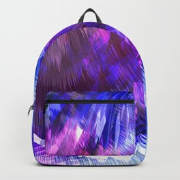 light blue electric abstract geometric print Backpack