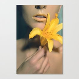 #2 Fowers Lips Canvas Print