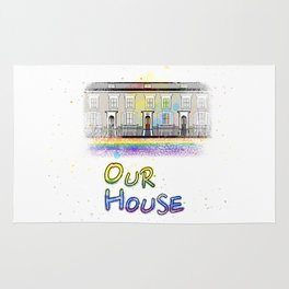 Our Rainbow House Rug