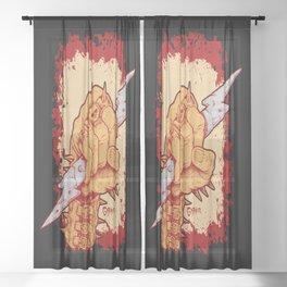 Heavy Metal Rock N Roll Bolt Sheer Curtain