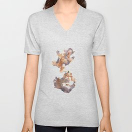 Soft Texture Watercolor | [Grief] Wings Unisex V-Neck