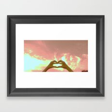 hearts to the skies Framed Art Print
