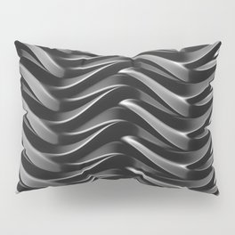 GRIEVE shades of dark grey weave together to gain strength Pillow Sham