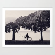 Into the Nature b&w Art Print