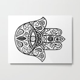 The hamsa hand Metal Print