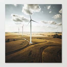windturbine in nebraska Canvas Print