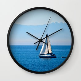 Cool Blue Wall Clock
