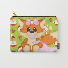 Foxy Christmas Baby Girl Carry-All Pouch