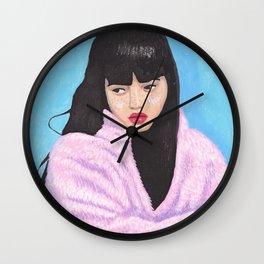 Pinky gurl Wall Clock