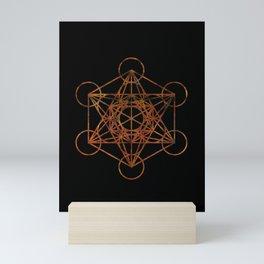 Sacred Geometry Metatron's Cube Mini Art Print