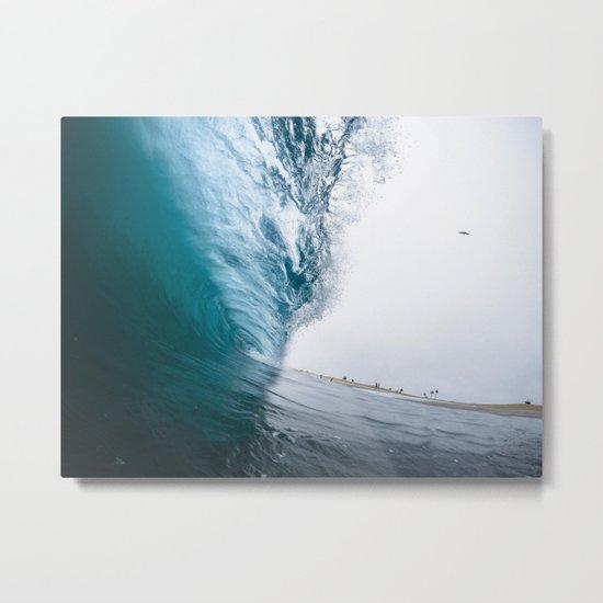 Beautiful Wave Crash Metal Print