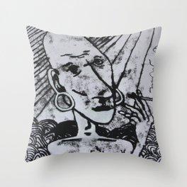 Pokey Smoky  Throw Pillow