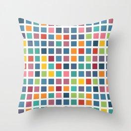 City Blocks - Subtle Rainbow #453 Throw Pillow
