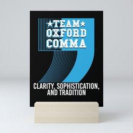 Team Oxford Comma Mini Art Print
