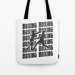 Boxing Repeat Fighting Cardio Fight Sparring Black Tote Bag