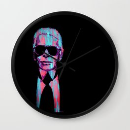 Karl Lagerfeld Portrait Pop Wall Clock