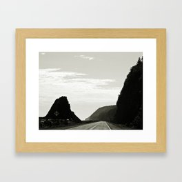 Haute-Gaspesie Coastal Road Framed Art Print