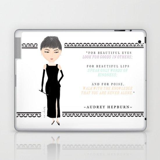 wisdom of Audrey Hepburn Laptop & iPad Skin