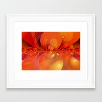 outer space Framed Art Prints featuring Outer Space by Christine baessler
