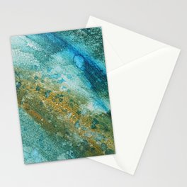Ocean Splatter in Watercolor and Acrylic Stationery Cards