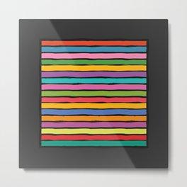 dp203-11B Colorful Stripes Metal Print