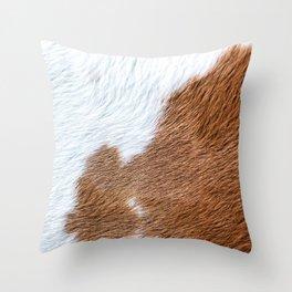 Cow Hide Print Pattern Throw Pillow