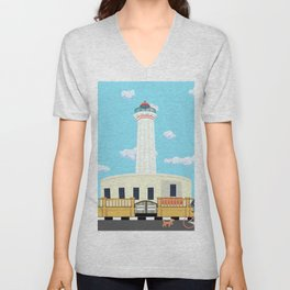 The Old Lighthouse of Pondicherry Unisex V-Neck